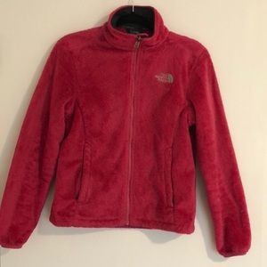 North Face jacket bright pink